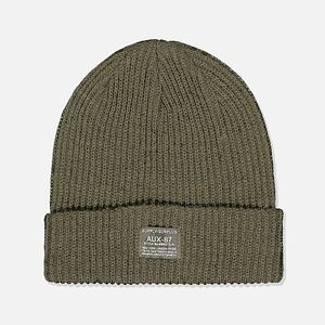 Cotton On Men's Women's Basic Ribbed Khaki Beanie